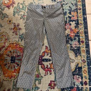 Banana Republic Camden Fit Silver Jacquard Pants